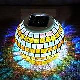 SOLMORE Luce Mosaico Solare Prato LED Impermeabile Garden Light Cambiare Colore Vetro Lampada Della Decorazione Scrivania Sole Vaso Luce Notte Romantico Ball Senza Cavo Festival Regalo Migliore