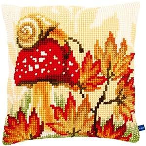 "Autumn Scene Cushion Cross Stitch Kit-16""X16"" (Pack of 1 )"
