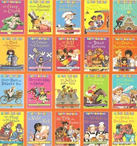 Happy Families - Complete Set of 20 Books RRP 79.80 - Incl.: Master Bun, Miss Dose, Mrs Jolly, Mr and Mrs Hay, Mrs Plug, Mrs Lather's Laundry, Mrs Vole, Mr Tick, Miss Brick, Miss Jump, Mrs Wobble, Mr Cosmo, Mr Biff, Miss Dirt, Ms Cliff, etc.... (Hap by Allan Ahlberg (2008) Paperback