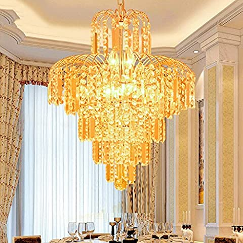 Nordic Modern Gold Kristall Kronleuchter Eisen Beschichtung Polierte Restaurant Kronleuchter E14 Lichtquelle (nicht Tragen Lichtquelle) ( Color : 80 )
