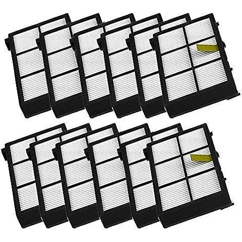 LOVE(TM)12 Paquete de filtro Hepa filtros de repuesto para Robot serie 800 870 880 Piezas de vacío