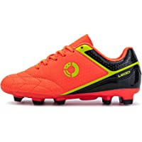 LEOCI Football Shoes - Kid's Anti-Slip Soccer Boots Toddler Outdoor Comfort Cleats
