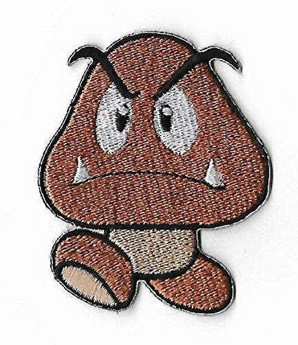 Bullet Bill Kostüm - Goomba Patch braun Mushroom gesticktes Eisen auf Abzeichen Aufnäher Kostüm Cosplay Mario Kart/SNES/Mario World/Super Mario Brothers/Mario Allstars