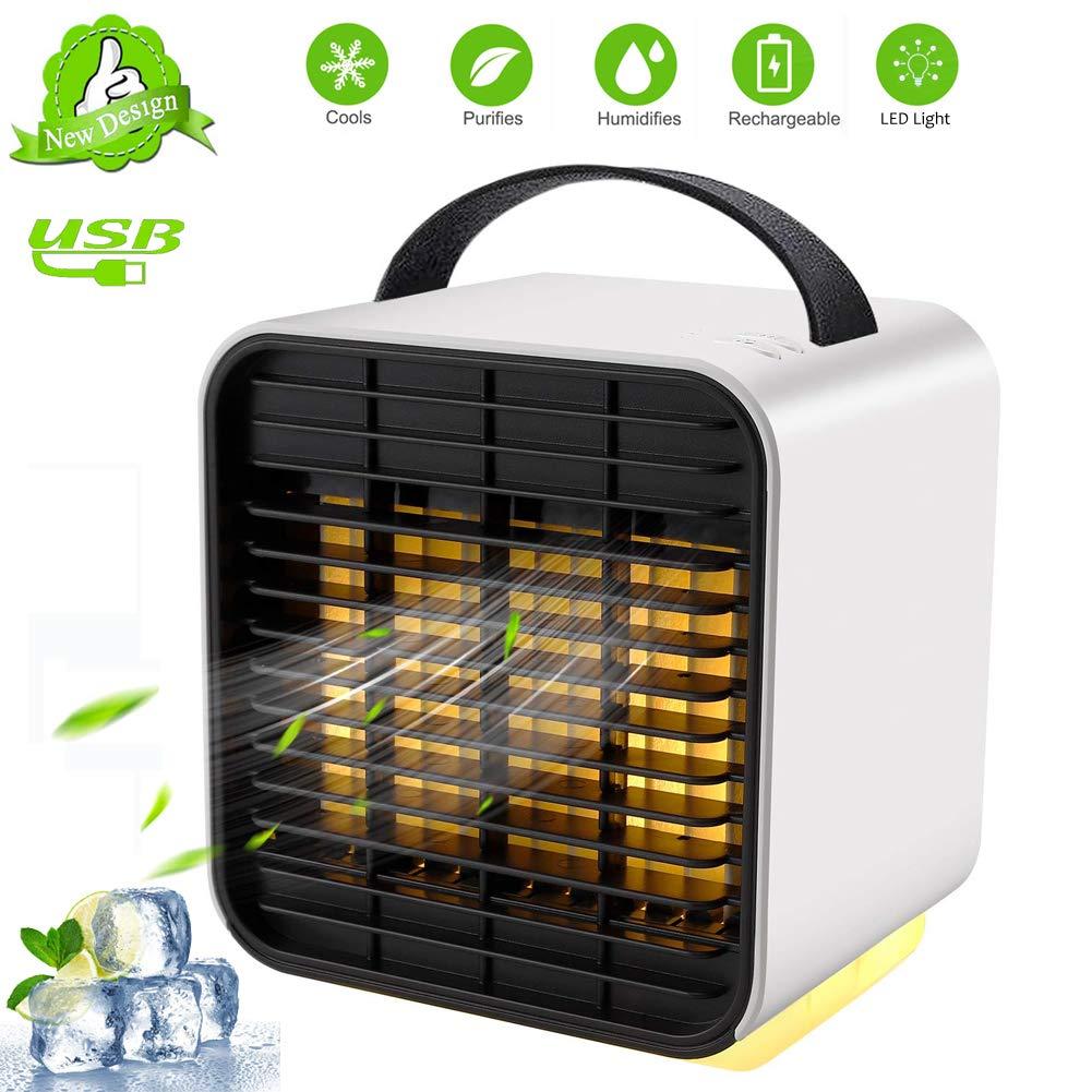 Ventilatore und Umidificatore per Casa//Ufficio Mini Condizionatore Portatile Air Cooler Personale 3 in 1 Mini Raffreddatore Daria