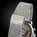 Gigandet Herren-Armbanduhr Minimalism Quarz Chronograph Uhr Datum Analog Edelstahlarmband Schwarz Silber G32-006 - 6