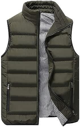 Men Vest Winter Vest Jacket Outdoor Light Vest Sport Sleeveless Puffer Vest with Pocket Stand Collar Sweatshirt Warm Vest Winter Coat Sport Vest