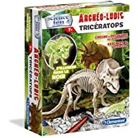 Clementoni - 52069-Archéo Ludic Tricératops - Phosphorescent-Jeu Scientifique