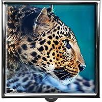 metALUm Pillendose/quadratisch / Modell Thorben/Wilde Tiere/Leopard / 42010010 preisvergleich bei billige-tabletten.eu