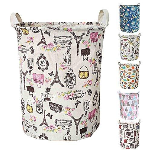 Plegable bolsa de lavandería cesta plegable para la colada cesto para la colada, ropa de impermeable organizador de almacenamiento de basura para recogida de juguetes, 40x 50cm