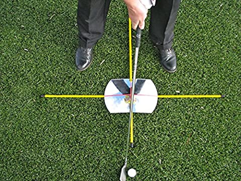 Eyeline Golf Practice T with 360° Mirror for full Swing and Putting