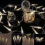 VINGO LED Eiszapfen Eisregen Lichternetz Warmweiß Lichterkette 31V Wasserdicht für Weihnachten Wedding außen Schaufenster (10M 40 Leds)