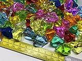 CRYSTAL KING 140 Stück 500g große Bunte Deko EIS Diamanten 32mm Brillianten Strasssteine Acrylsteine basteln Dekosteine Gltzersteine Strass Steine zum Verzieren Dekorieren - 3