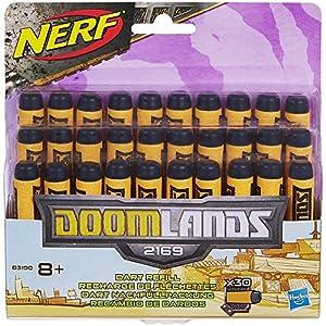Nerf - Pack de 30 Dardos Doomlands (Hasbro B3190EU4)