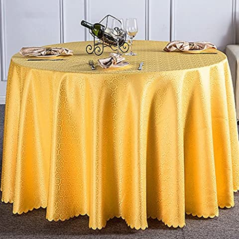 Qiangzi Nappes Hôtel Restaurant Banquet Nappe de mariage Maillot de bain en forme de pique-nique Taille facultative Pour l'hôtel et le mariage ( taille : Round- 240cm )