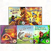 rapunzel rapunzel wash your hair, dont pick your nose pinocchio 3 books collection set - get some rest sleeping beauty, keep running gingerbread man, fairytales gone wrong: jack and the beanstalk