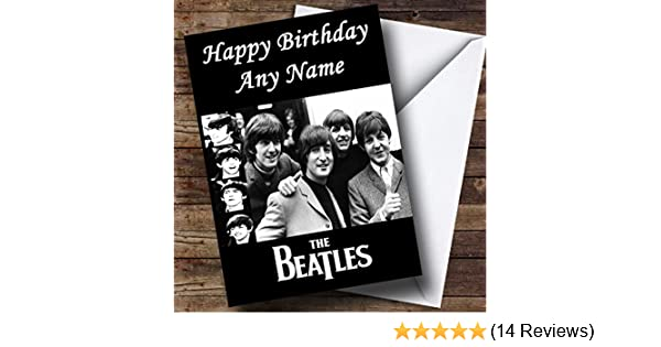 Personalised The Beatles Birthday Card