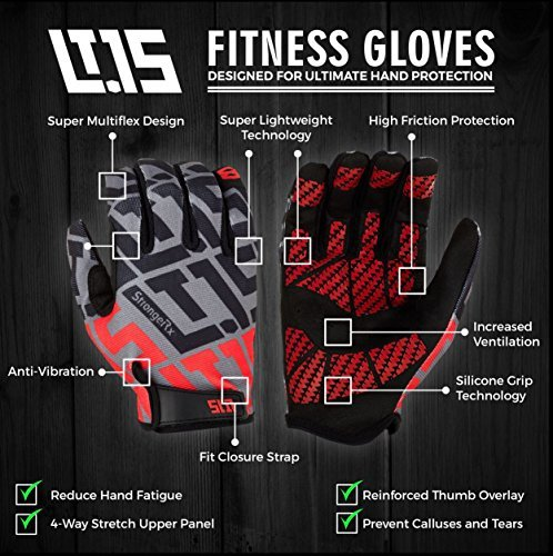 StrongerRx-Forever-Gloves-LT15-Get-Forever-Replacements-For-Life-Never-Buy-Gloves-Again-Lightweight-Super-Flexible-Fabric-and-Designed-For-Extreme-Fitness-WODs-Ropes-Crossfit-More-Small