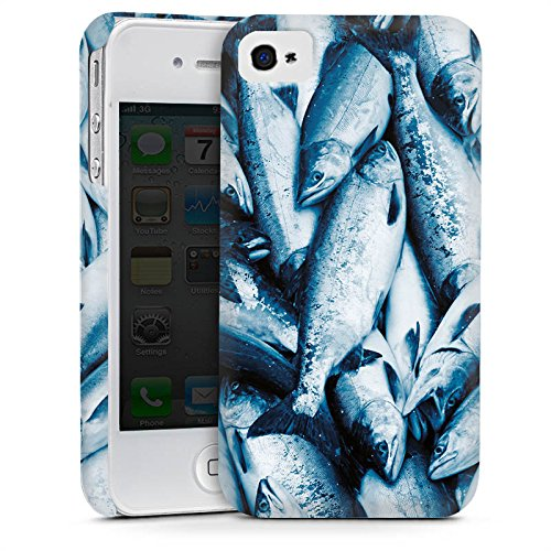 Apple iPhone 4 Housse Étui Silicone Coque Protection Poisson La capture Poissons Cas Premium mat