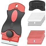 Gebildet 1pc Schraper met 10pcs Scheermesje+10pcs Plastic Dubbel Mes - Keramische Kookplaat Schraper/Autofolie Schraper/Glas