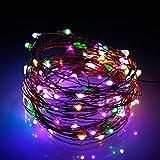 Albrillo Farbwechsel LED Lichterkette mit Adapter 10M 100leds für Innen und Außen