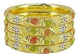 Banithani traditionelle Gold plattiert Bollywood Kada Armreif Set Braut Frauen Armband Schmuck
