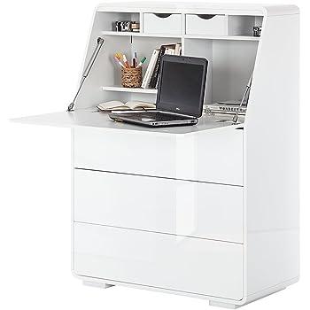 1802 Schreibtisch weiss BV-VERTRIEB PC-Tisch auf Rollen B/ürotisch weiss