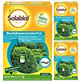 SBM Solabiol GARDOPIA Sparpaket: 3 x 50ml Buchsbaumzünslerfrei Raupenfrei gegen saugende und beißende Schädlinge + Gardopia Zeckenzange mit Lupe