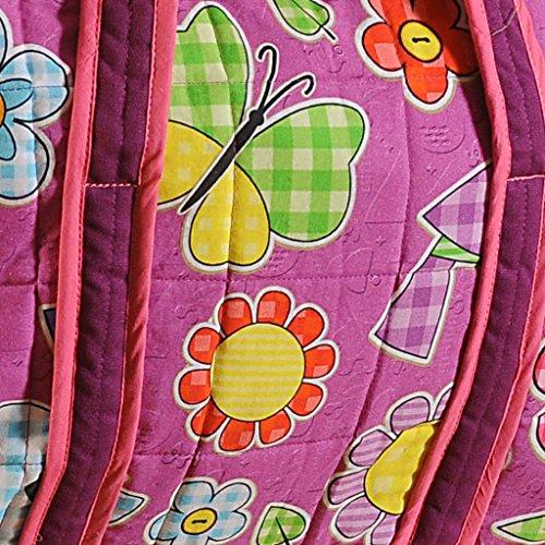 Yuga Trendy Digitaldruckwickeltasche für Mamas mit 3 Taschen Wasserdicht Innenstepp 12 x 16 x 8 Zoll Lila