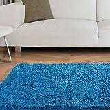 Lavish Home Teppich Hochflor Shag Teppich, Plastik, blau, 21 x 36-Inch