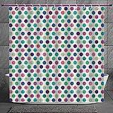 Cool Shower Curtain 2.0 [ Geometric,Cute Polka Dots Girlish Feminine Design Vivid Colors Kids Nursery Baby Theme Decorative,Multicolor ] Digital Print Polyester Fabric Bathroom Set Amazon deals