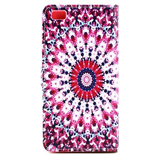 MOONBAY MALL Chic Wallet Case Classic Pour Apple iPhone SE / iPhone 5SE / iPhone 5E PU Cuir Étuis Flip Cover housse, Stylus et Film protecteur inclus. A29 A07