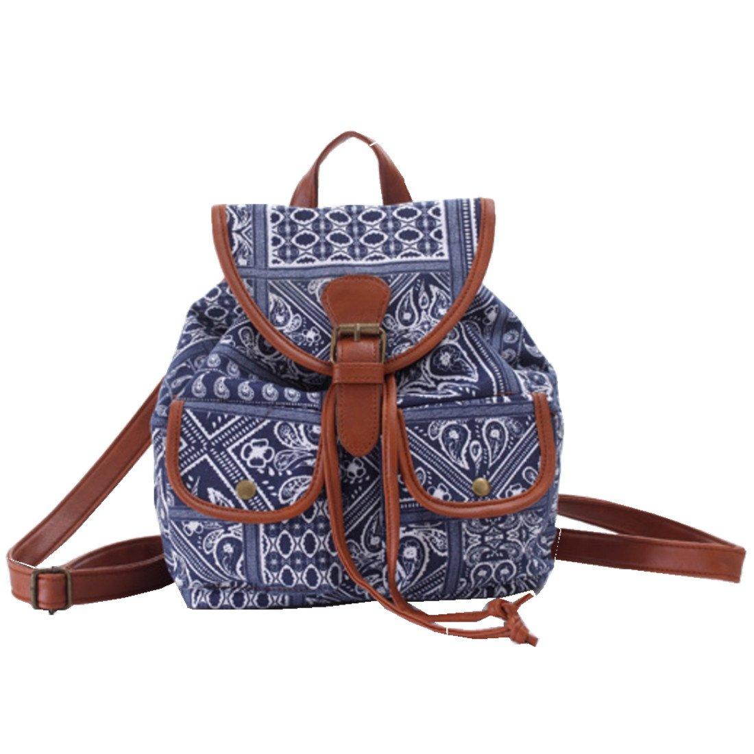 f47915faa73a3 ERWAA Rucksack Damen Schultasche Mädchen Schulrucksack Vintage Retro Canvas  Schultasche Daypacks für Teenager Studenten Universität Outdoor