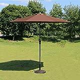 Sombrillas Paraguas aire libre Mercado Patio Jardín Mesa de jardín Sol hierro Polo Protector UV 270cm * 250cm (Color : Color cafe)