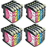 20 komp. XL Druckerpatronen mit Chip für Brother MFC J245 J470DW J650DW J870DW J4410DW J4510DW J4610DW J4710D J6520 J6720 J6720DW J6920 / Brother DCP-J132W DCP J152 J552 J752DW J4110 W DW XL Version - sie bekommen 8 x schwarz 4 x rot 4 x blau 4 x gelb / Brother LC121 LC123 LC125 LC127 Serie