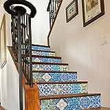 Fliesenaufkleber Treppen Portugiesische Deko Ideen Pack N2 (Packung mit 24) - 30 x 30 cm