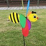 sharplace 3D Bee Form Windmühle Whirligig Kinder Outdoor Spielzeug Garten Rasen Yard Party Camping Decor