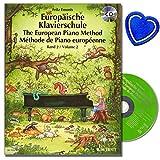 Europäische Klavierschule Band 2 mit CD von Fritz Emonts - Spielerischer Anfang ohne Noten - Improvisation und Spiel - Viele vierhändige Klavierstücke - (mit bunter herzförmiger Notenklammer)