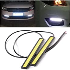 Auto Concept A Pair Of Waterproof LED Day Time Running (Drl) Lights for Innova Crysta (White, 17cm Length)