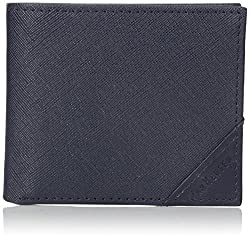 Van Heusen Mens Saffiano Bi-Fold Wallet, Navy, One Size