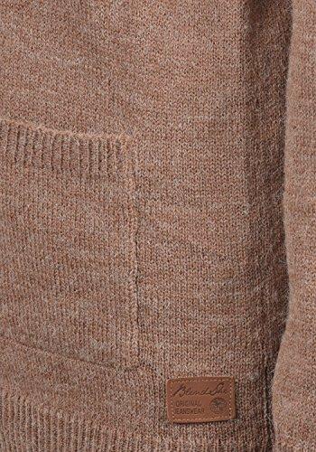 BLEND SHE Nina Damen Strickjacke Cardigan Feinstrick mit Rundhals-Ausschnitt samt Knopfleiste aus hochwertiger Materialqualität Meliert Clove