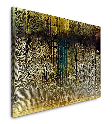 Paul Sinus Art Abstraktes Bild 120x 80cm Inspirierende Fotokunst in Museums-Qualität für Ihr Zuhause als Wandbild auf Leinwand in
