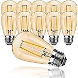 ProCrus Ampoule Edison vintage E27 S14 LED 2W,Ampoules E27, Ampoules Rétro Blanc Chaud 2700K,équivalent Ampoules 15W,pour Gui