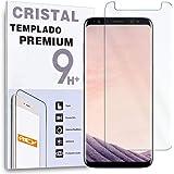 REY Protector de Pantalla para Samsung Galaxy A8 2018 / Samsung Galaxy A5 2018, Cristal Vidrio Templado Premium