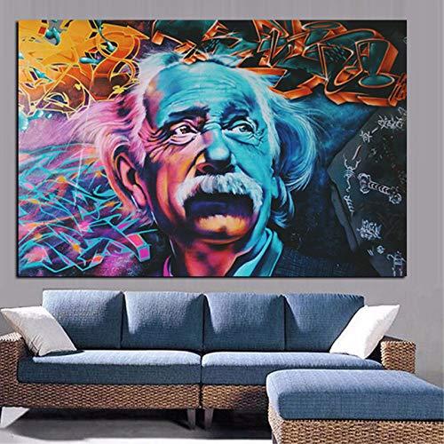 HD Print Replica Lieber Einstein Ölgemälde auf Leinwand Bild Moderne Pop Art Poster für Wohnzimmer Sofa (Kein Rahmen) 20x30 CM