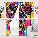 #6: CraftJaipur 2 Pcs Cotton Window Curtain Long Door - 40 × 80 Inches