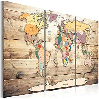 Bold bloc design old world atlas maps 120x68cm 4 panel offset murando image 120x80 cm 472 by 315 in 3 colours to choose image printed on canvas wall art print picture photo 3 pieces world map wood gumiabroncs Choice Image