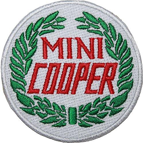 "Classic Mini Cooper con Logo ricamato 8,89 cm (3,5"") Sew o Iron on-on"