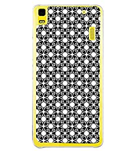 Fuson Premium Heart Floral Design Metal Printed with Hard Plastic Back Case Cover for Lenovo K3 Note