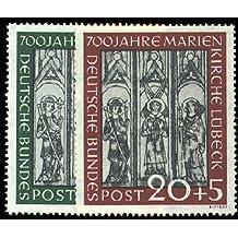 Briefmarken BRD Nr. 139-140 postfrisch Kirchenfenster 1951