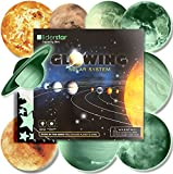 Glow in the dark stars and planets Solar System Wall Stickers Sun Earth and so on Glowing Planets Wall Decals Peel Stick 9 Wall Ceiling Stickers Kids Bedroom Living Room Nursery Girls and Boys